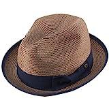 Epoch Men's Classy Travel Crushable 2tone Derby Fedora Upturn Curl Brim Hat S/M