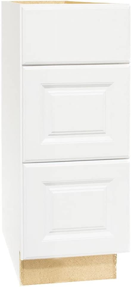 Amazon Com Hampton Bay Hampton Assembled 12x34 5x21 In Bath Vanity Drawer Base Cabinet With Ball Bearing Drawer Glides In Satin Wh Electronics