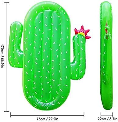 Lavievert Giant Cactus Flotador de piscina hinchable al aire ...