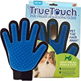 Deshedding Glove Brush for Dog and Cat, True Touch, Professional Pet Grooming Tools, Long or Short Hair Remover, Dogs, Cats, Horses, Bunnies, Pet Massage, Bathing, Brushing, Greate Pet Gift