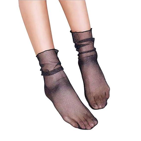 HOOH 8 Estilos De Las Mujeres Mallas Tobillo Escarpado Calcetines Mujer Vestido Encaje Calcetines: Amazon.es: Ropa y accesorios