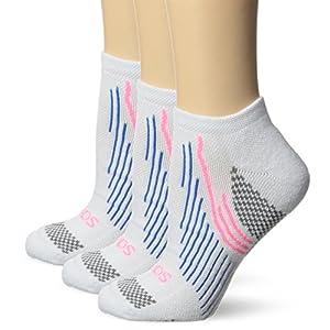 Saucony Women's 3 Pack River No Show Socks, White, 9-11/Shoe Size 6-10.5