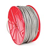 Koch Industries 7 x 19 Stainless Steel Cable, 5/16-inch by 100-feet, Roll