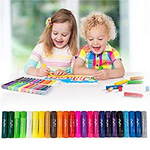 MayMoi Washable Tempera Paint Sticks | Non-Toxic, Quick Drying & No Mess Paint Sticks for Kids (24 Bright Colors, 10g)