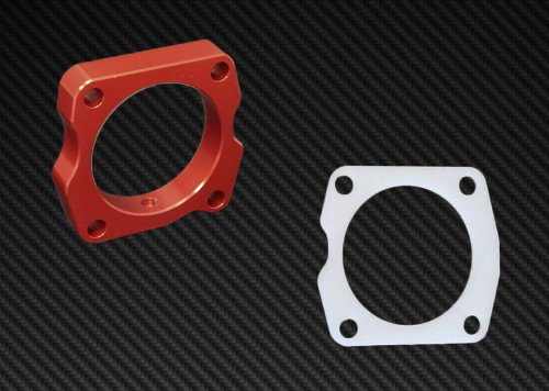 Torque Solution TB Spacer Gasket Combo Red HONDA ACCORD V6 2003-2010