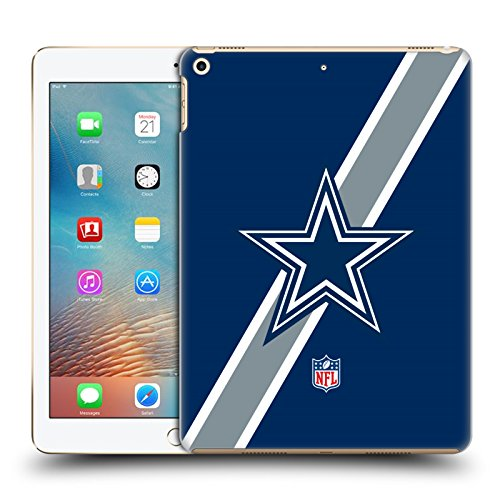 Official NFL Stripes Dallas Cowboys Logo Hard Back Case for iPad 9.7 2017 / iPad 9.7 2018 by Head Case Designs