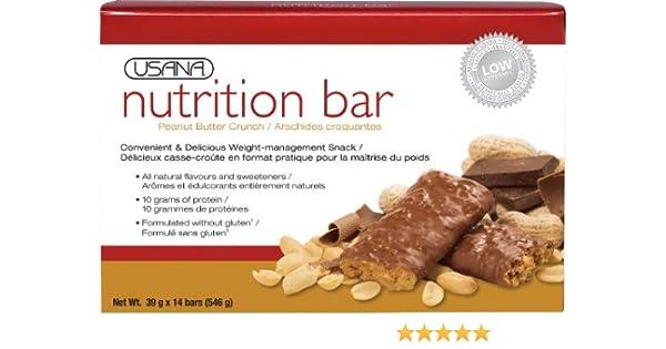Amazon.com: USANA 230 NUTRITION BAR, PEANUT BUTTER CRUNCH: Health & Personal Care
