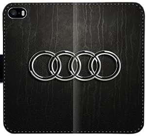 Hd Audi Logo V1D1V Funda iPhone 6 6S 4,7 funda de cuero caja de la carpeta del caso del tirón del teléfono 12qr38 duro fundas Moda