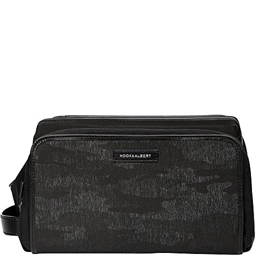 Hook & Albert Camo Print Travel Toiletry Kit (Black Camo) by HOOK & ALBERT