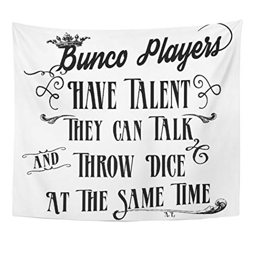 Semtomn Tapestry Artwork Wall Hanging Prize Bunco Players