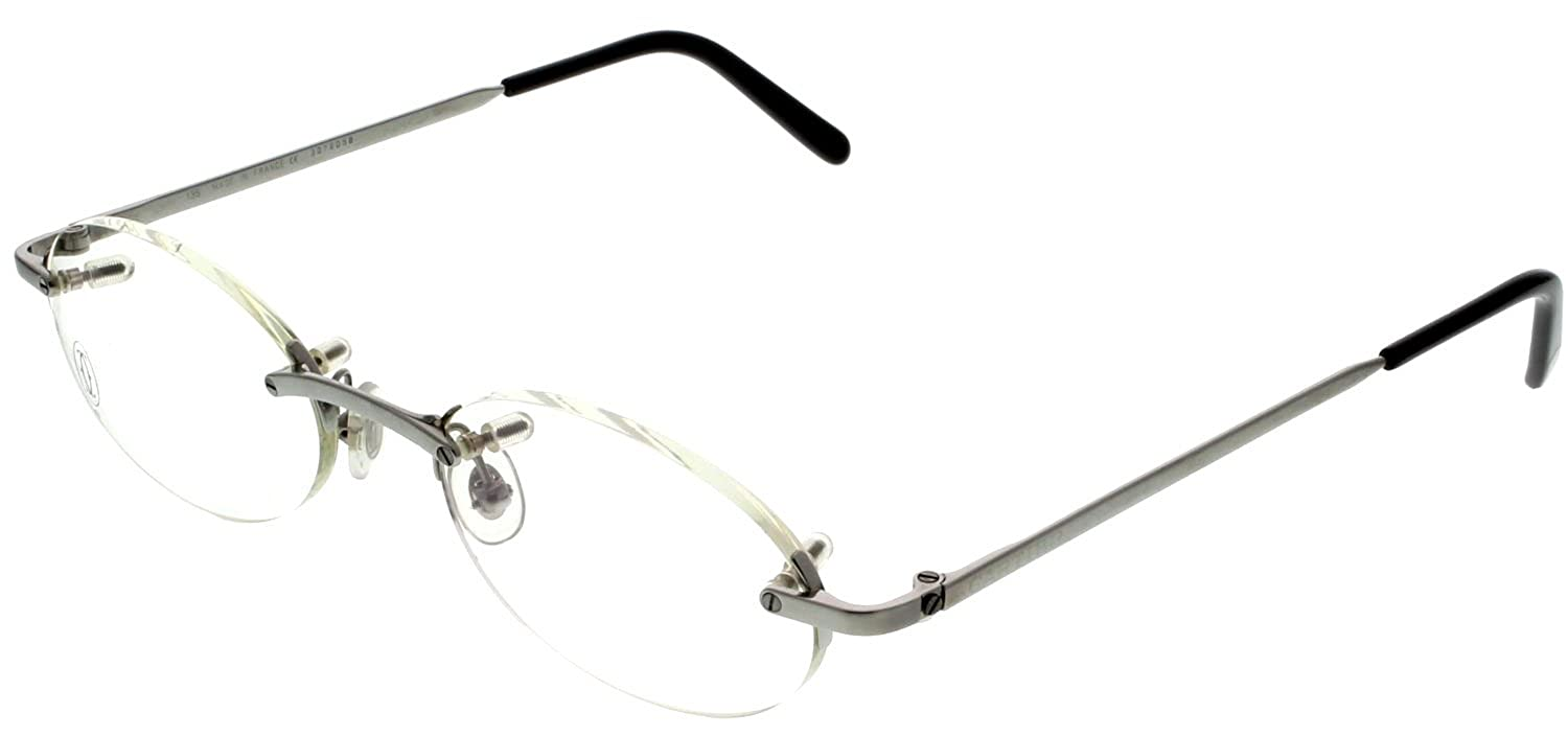 a3a39ecdd7 Amazon.com  Cartier T-EYE Eyeglasses Frame Unisex T8100449 Titanium  Rimless  Clothing