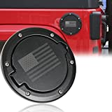 RT-TCZ Fuel Filler Door Cover Gas Tank Cap Exterior Accessories For Jeep JK Wrangler & Unlimited 2007-2017 (US Flag)