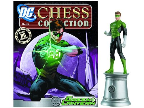 DC Chess Justice League Collector Figure & Magazine Green Lantern White Bishop -  Eaglemoss, Eag-3218