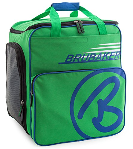 - BRUBAKER Winter Sports Boot Bag Super Champion - Limited Edition - Backpack Green Blue