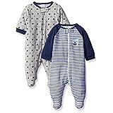 Gerber Baby Boys' 2 Pack Zip Front Sleep 'N Play, Team Sports, 0-3 Months