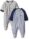 Gerber Baby Boys' 2 Pack Zip Front Sleep 'N Play, Team Sports, 3-6 Months