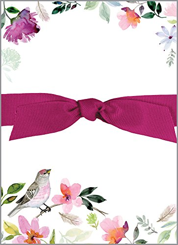 Purple Finch Chunky Thick Bow Notepad, 150 sheets