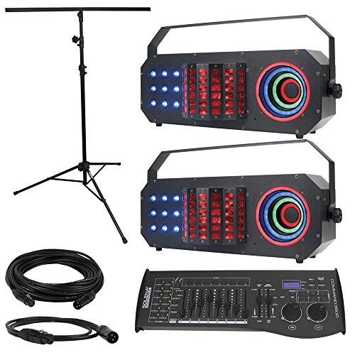 ADJ American DJ Boom Box FX3 2-Pack with Light Stand & DMX Controller