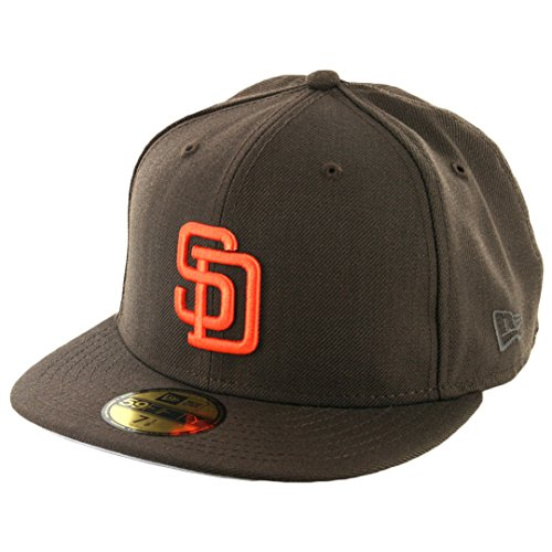 New Era 59Fifty San Diego Padres CO 1990 Fitted Hat (Brown/Orange) Men's MLB Cap