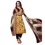 Ready Made Ethnic Beautiful Printed Cotton Salwar Kameez Suit – 0X Plus, Yellow