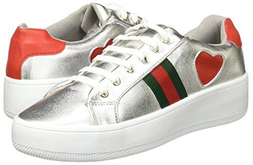 7604 Mujer Plata de 758 Tenis para Zapatillas Footwear LOB Pqaw8EaZ