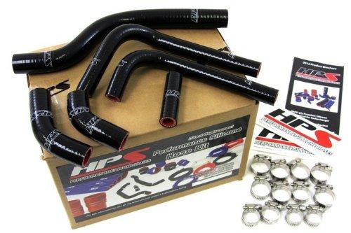 HPS 57-1252-BLK Black Silicone Radiator Hose Kit for Suzuki RMZ250