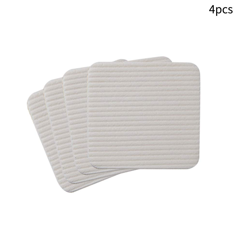 Vacuum Tech Corner Gripper Tape Anti Curling Rug Pad Tape Reusable Flooring Rug Tape for Hardwood Floors Self Adhesive Non Slip Carpet Gripper Rug Grippers Carpets Area Rugs and Mats 4PCS