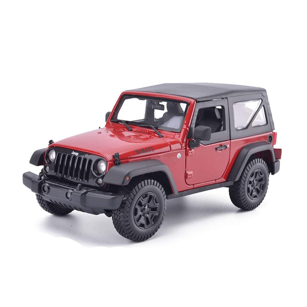 LIUFS-Alloy Car Jeep Wrangler Convertible Alloy Car Model 1/18 Boy Gift Home Decoration ( Color : Red )