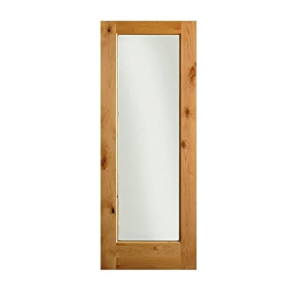Charmant Krosswood Doors 32 In. X 96 In. Rustic Knotty Alder 1 Lite Wood