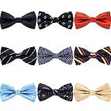 Kyпить AVANTMEN 9 PCS Pre-tied Adjustable Bowties for Men Mixed Color Assorted Neck Tie Bow Ties (9 Pack, Style 3) на Amazon.com