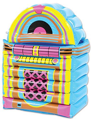 Beistle 52165 Inflatable Jukebox Cooler, 20″ x 30.5″, Multicolor