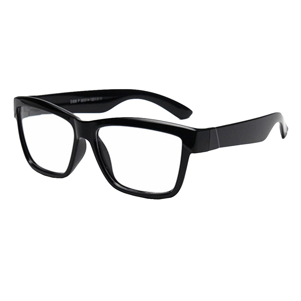 Hibote Ragazze Ragazzi Occhiali - Silicone - occhiali chiaro lenti geek/nerd retrò occhiali con occhiali caso - 18071006 X180710ETYJJ0605-X