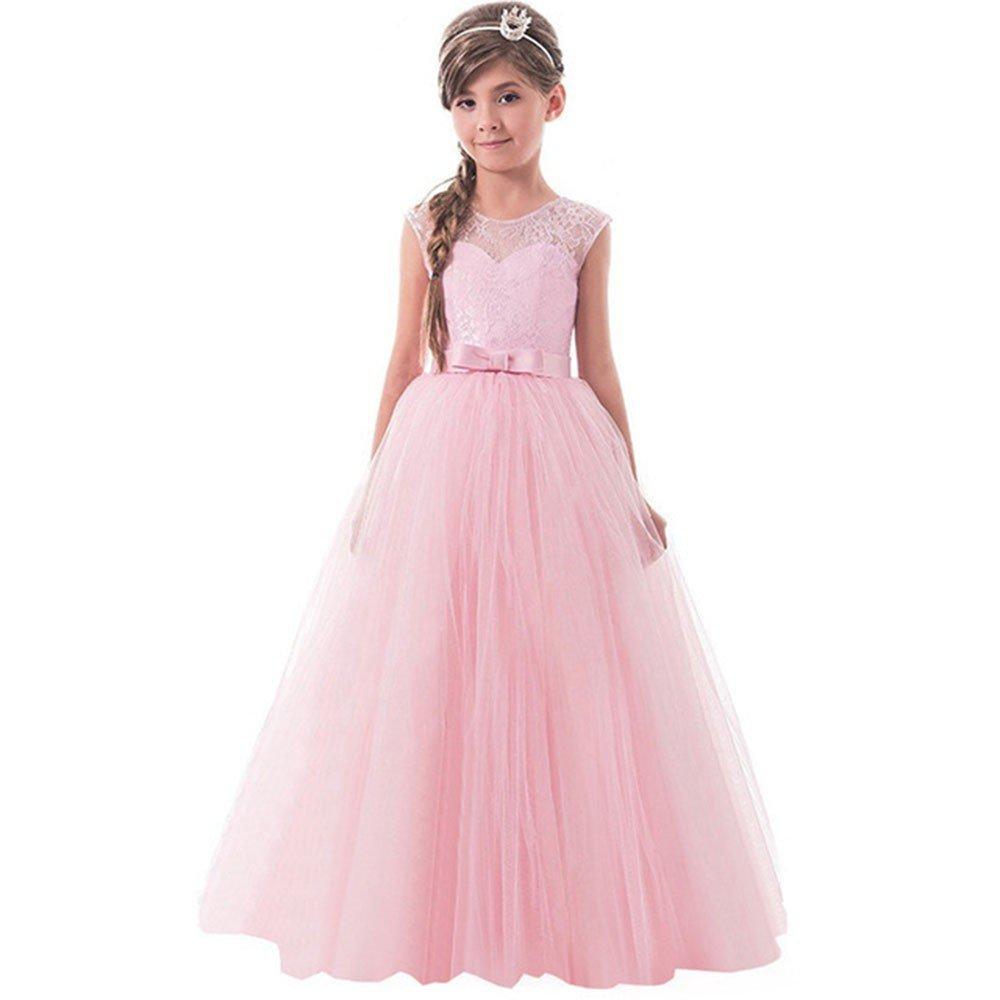 Ragazze Principessa Vestito,Vestito da Partito del Filato della Rete della Chiusura Lampo della Principessa Convenzionale Backless dell\'Arco della Ragazza del Bambino Fashion Vestito Bambina PANPANY