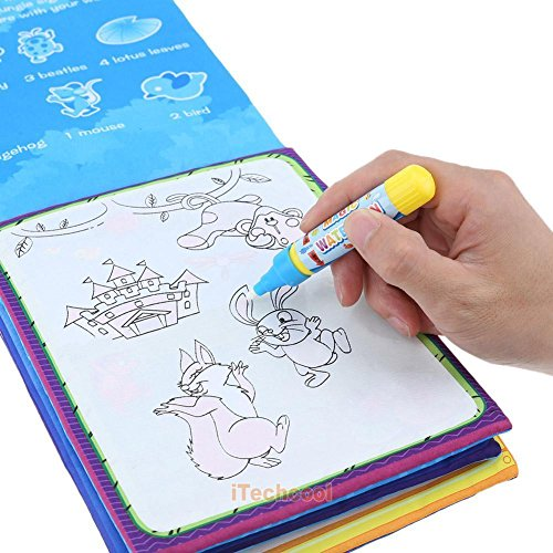 OKOKMALL US--Kids Children Magic Water Drawing Book Pen Coloring Book Animals Painting Art from OKOKMALL US