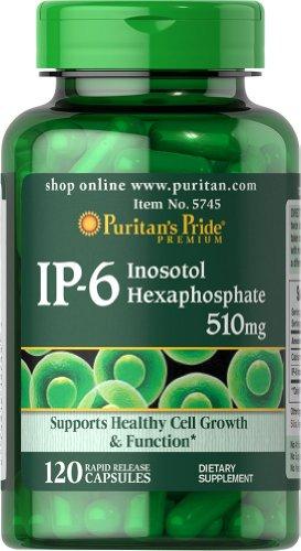 Puritan's Pride IP-6 Inositol Hexaphosphate 510 mg-120 Capsules