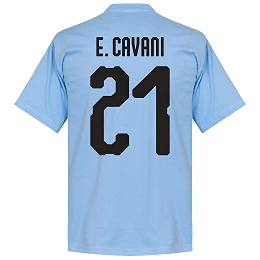 36f3a54e0 Amazon.com  Uruguay Cavani 21 Kids Team Tee - Sky  Clothing