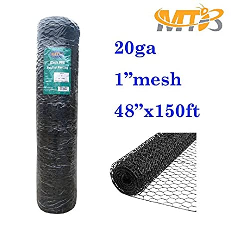 Amazon.com : MTB Black PVC Hexagonal Poultry Netting, Chicken Wire ...