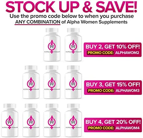 Alpha Woman PM - Nighttime Relaxation Formula - Relieve Stress, Reduce Food Cravings, Promote Healthy Libido - Vegan & Keto Safe -60 Capsules 4