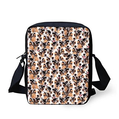 Y Spotted pour HUGS IDEA petit bandoulière CC3309E Poodle Dog femme Rose Sac aXw5Fwv