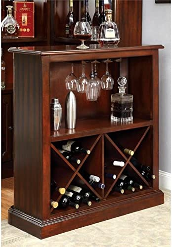 Furniture of America Myron Traditional Wood Wine Rack