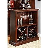 Furniture of America Myron Traditional Wine Rack in Dark Cherry