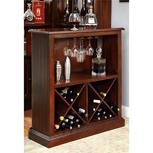 (Bowery Hill Traditional Wine Rack in Dark Cherry )