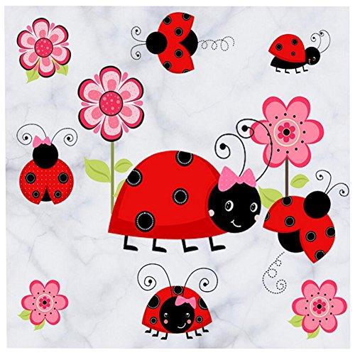Ladybug Wall Decal Ladybug Wall Sticker Peel and Stick Flower