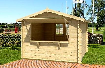 Fußboden Gartenhaus Pvc ~ Gartenhaus kiosk blockhaus cm mm inkl fußboden