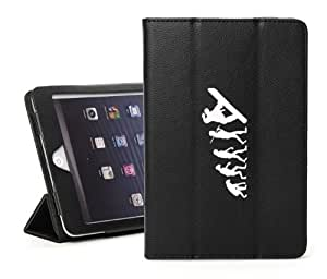 Apple iPad Mini Black Faux Leather Magnetic Smart Case by icecream design