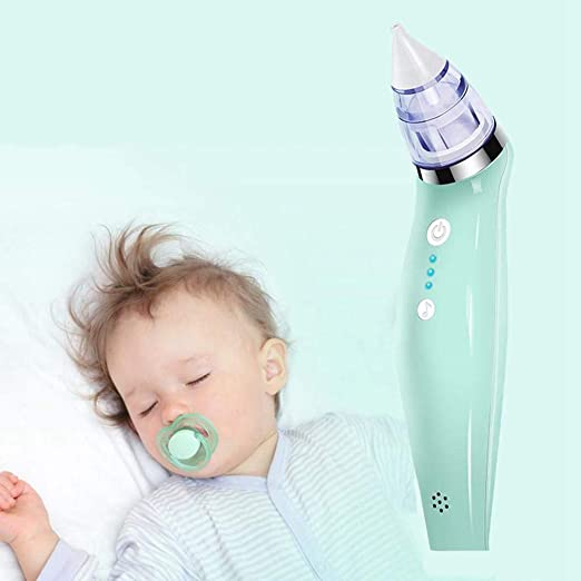 HS-ZM-01 Aspirador Nasal para bebés, Limpiador Nariz eléctrico ...