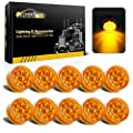 Partsam 10Pcs 2Inch Round Miroreflex Led Lights