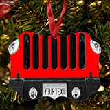 BRGiftShop Personalize Your Own SUV Bumper Car Grill Red License Plate Christmas Tree Ornament