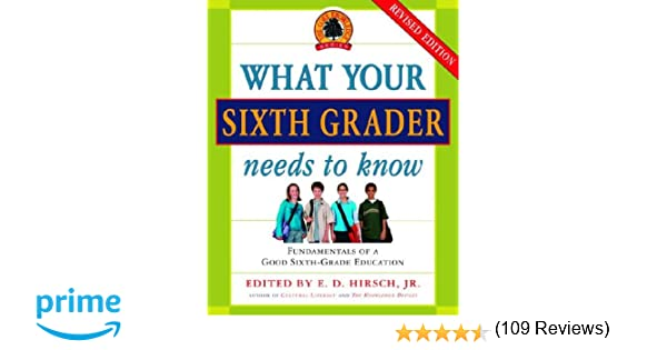 What Your Sixth Grader Needs to Know: Fundamentals of a Good Sixth ...