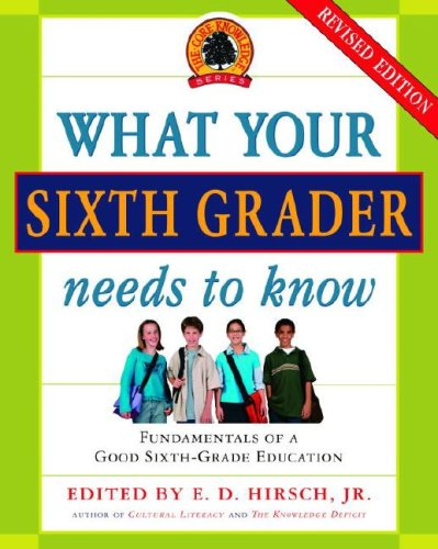 What Your Sixth Grader Needs to Know: Fundamentals of a Good Sixth-Grade Education, Revised Edition (The Core Knowledge Series)